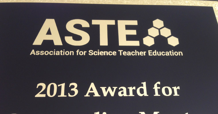 ASTE Award Plaque